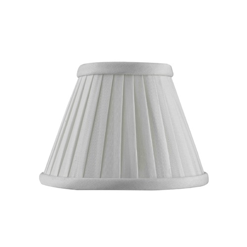 Design Classics Lighting Clip-On Empire Pleated White Lamp Shade SH9600
