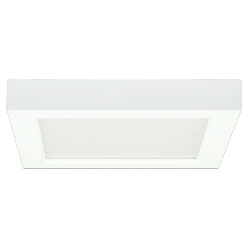 Design Classics Lighting 7-Inch Square White Low Profile LED Flushmount Ceiling Light - 3000K 8335-30-WH