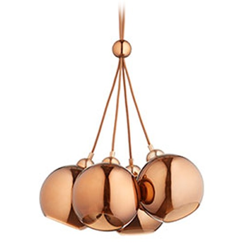 Quorum Lighting Quorum Lighting Satin Copper Multi-Light Pendants 811-4-49