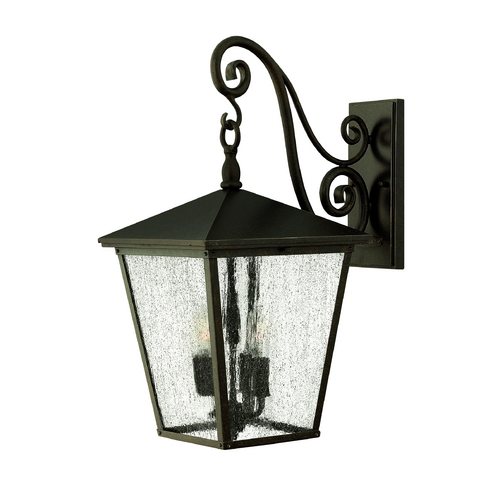 Hinkley Lighting Seeded Glass Outdoor Wall Light Bronze Hinkley Lighting 1435RB