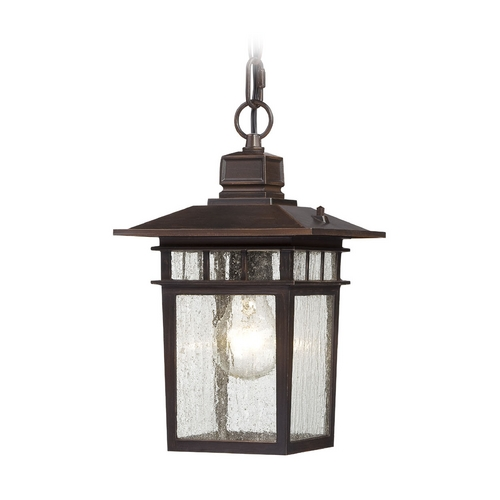 Nuvo Lighting Outdoor Hanging Light with Clear Glass in Rustic Bronze Finish 60/4955