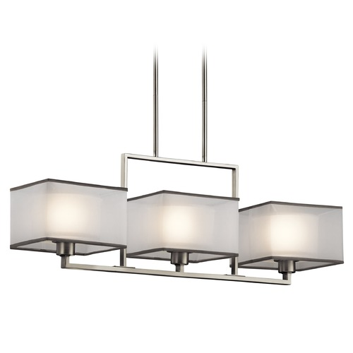 Kichler Lighting Kichler Lighting Kailey Brushed Nickel Island Light with Square Shade 43437NI