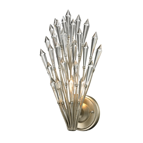 Elk Lighting Crystal Sconce Wall Light in Aged Silver Finish 31430/1