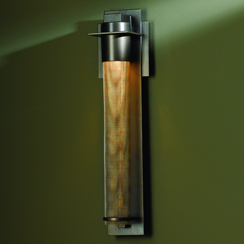 Hubbardton Forge Lighting Hubbardton Forge Lighting Airis Dark Smoke Outdoor Wall Light 307910-07-ZK220