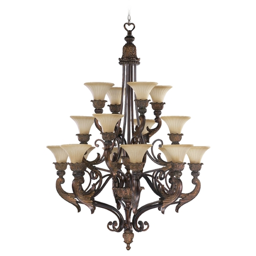 Quorum Lighting Quorum Lighting Madeleine Corsican Gold Chandelier 6230-16-88