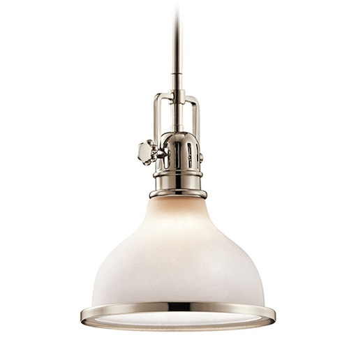 Kichler Lighting Kichler Lighting Hatteras Bay Mini-Pendant Light with Bowl / Dome Shade 43764PN