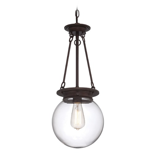 Savoy House Savoy House Oiled Burnished Bronze Mini-Pendant Light with Globe Shade 7-3300-1-28