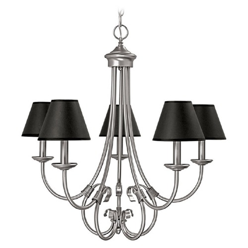 Capital Lighting Capital Lighting Hometown Matte Nickel Chandelier 3225MN-427