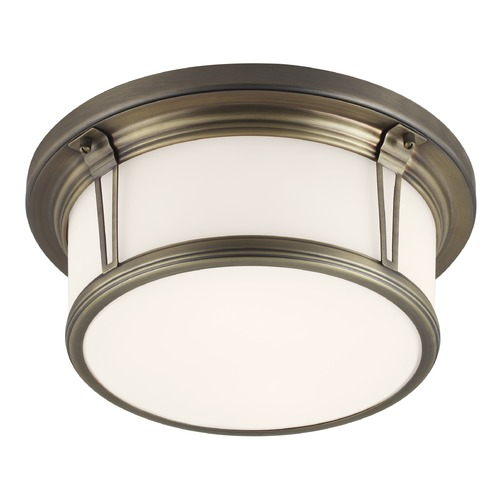 Feiss Lighting Feiss Lighting Woodward Satin Bronze LED Flushmount Light FM388SBZ-LED