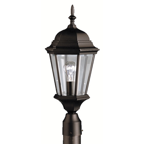 Kichler Lighting Kichler Post Light with Clear Glass in Black Finish 9956BK