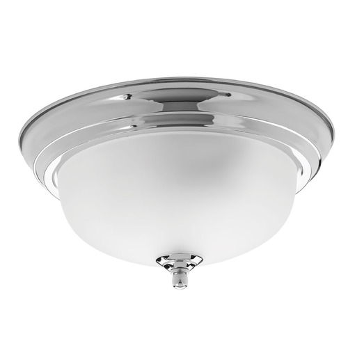 Progress Lighting Progress Lighting Dome Glass Polished Chrome Flushmount Light P3924-15ET