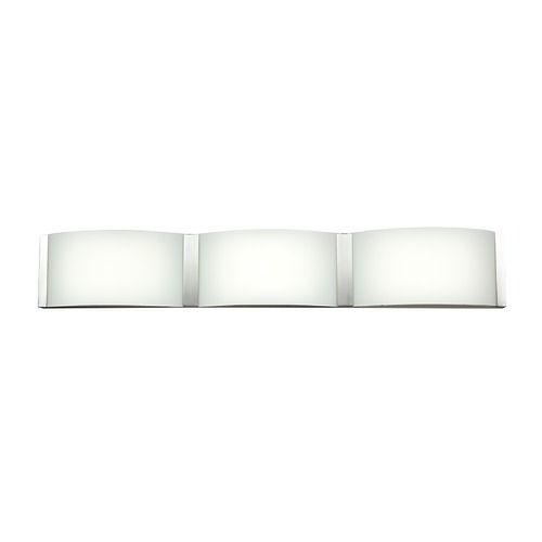 Access Lighting Access Lighting Wave Brushed Steel LED Bathroom Light 62297LEDD-BS/OPL