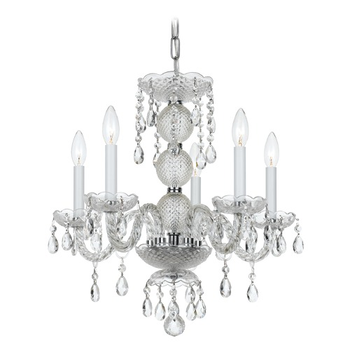 Crystorama Lighting Crystorama Lighting Finley Polished Chrome Crystal Chandelier 5095-CH-CL-MWP