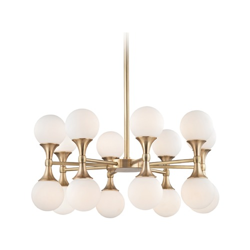 Hudson Valley Lighting Hudson Valley Lighting Astoria Aged Brass LED Chandelier 3316-AGB