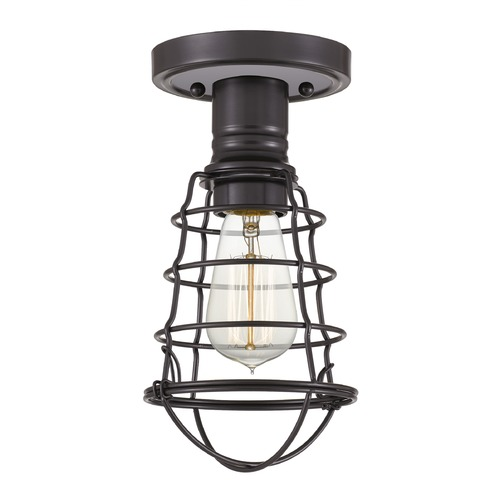 Quoizel Lighting Quoizel Lighting Caged Palladian Bronze Semi-Flushmount Light QF5118PN