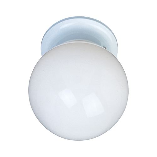 Maxim Lighting Maxim Lighting Utility Ee White Flushmount Light 85889WTWT