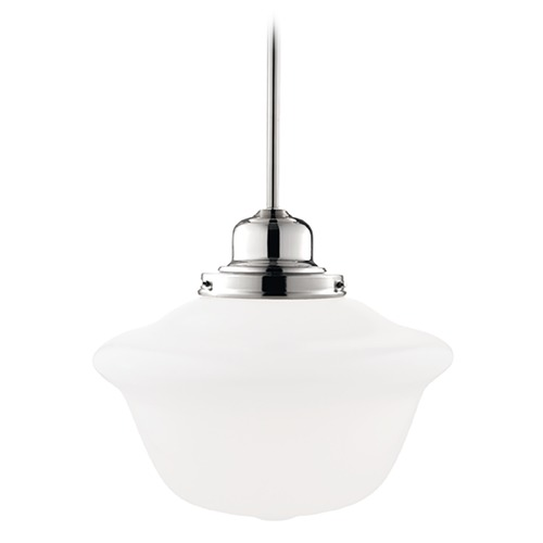 Hudson Valley Lighting Pendant Light with White Glass in Polished Nickel Finish 19-PN-1612