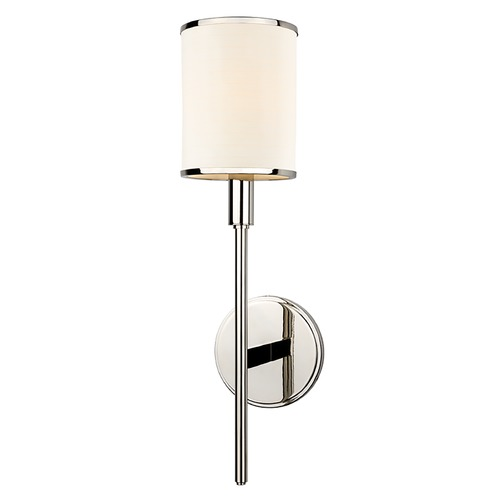 Hudson Valley Lighting Sconce Wall Light with White Shade in Polished Nickel Finish 621-PN