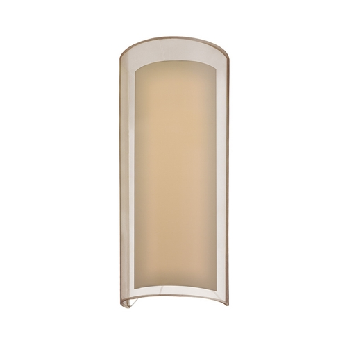 Sonneman Lighting Modern Sconce Wall Light with Silver Shade in Black Brass Finish 6017.51F