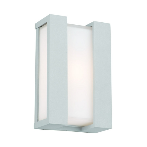 Philips Lighting Modern Outdoor Wall Light with White Glass in Graphite Finish F854010E1