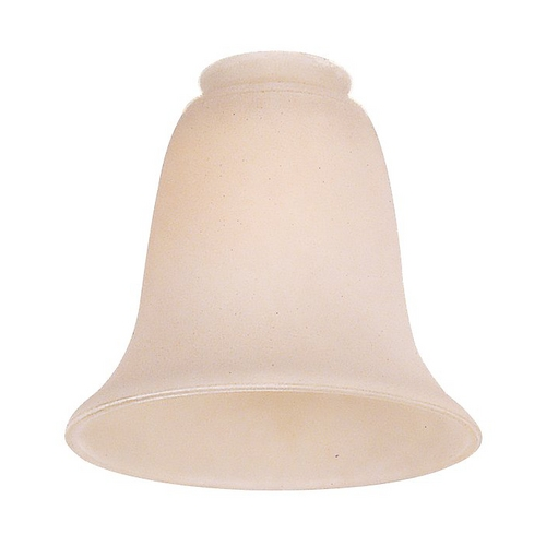 Monte Carlo Fans White Bell Glass Shade - 2-1/4-Inch Fitter Opening G966