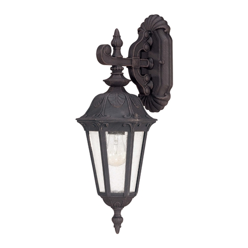 Nuvo Lighting Outdoor Wall Light with Clear Glass in Satin Iron Ore Finish 60/2036