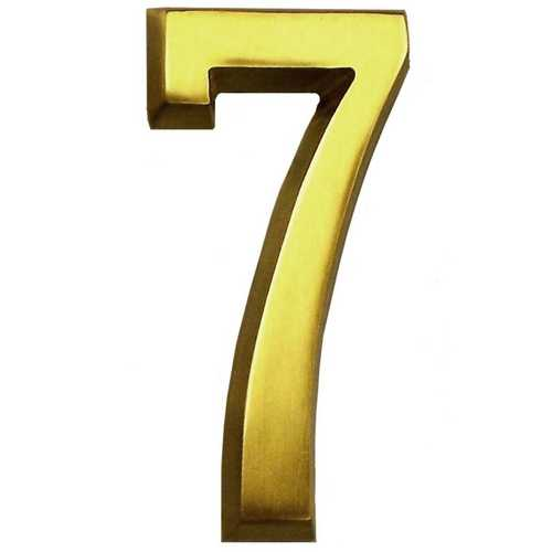 Satin Brass Four Inch House Number Gm Cb7