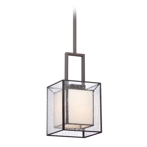 Quoizel Lighting Mini-Pendant Light with Clear Glass in Western Bronze Finish FE1506WT