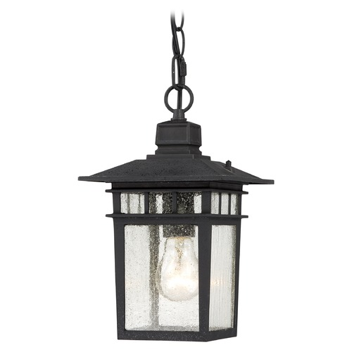 Nuvo Lighting Seeded Glass Outdoor Hanging Light Black Nuvo Lighting 60/4956