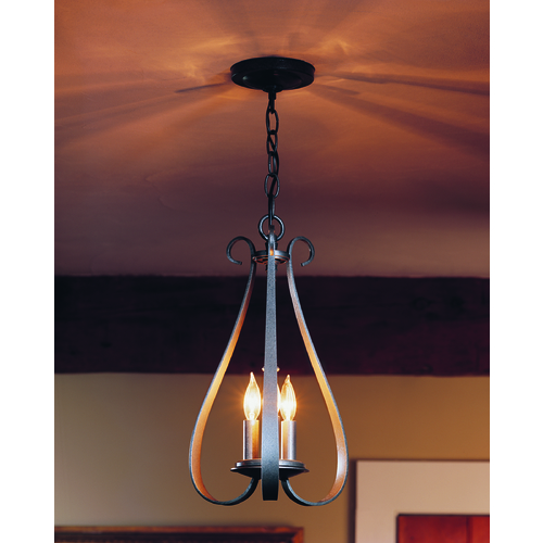Hubbardton Forge Lighting Hubbardton Forge Lighting Sweeping Taper Natural Iron Pendant Light 101473-20-CTO