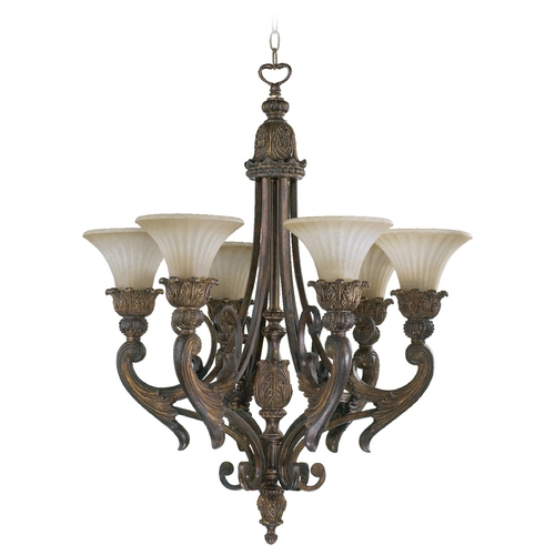 Quorum Lighting Quorum Lighting Madeleine Corsican Gold Chandelier 6230-6-88