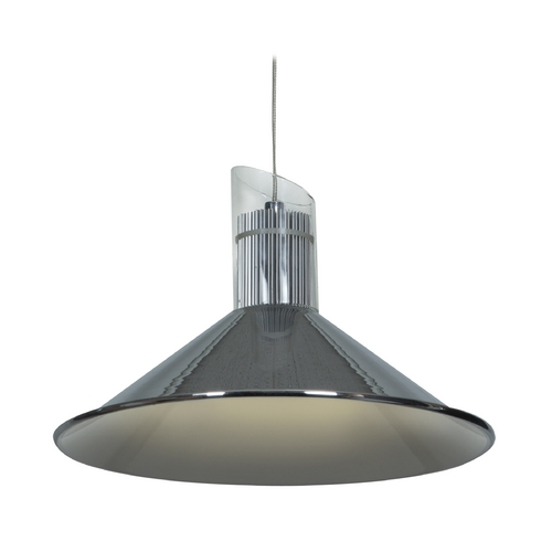 Access Lighting Access Lighting Pulse Chrome LED Pendant Light with Conical Shade 70031LED-CH/CLR