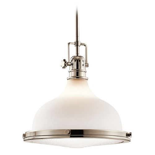 Kichler Lighting Kichler Lighting Hatteras Bay Pendant Light with Bowl / Dome Shade 43766PN