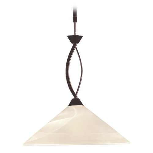 Elk Lighting Elk Lighting Oil Rubbed Bronze Pendant Light with Coolie Shade 16550/1