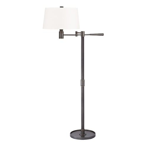 Hudson Valley Lighting Hudson Valley Lighting Lindale Old Bronze Swing Arm Lamp with Empire Shade L526-OB-WS