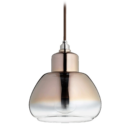 Quorum Lighting Quorum Lighting Gunmetal Mini-Pendant Light with Drum Shade 8000-1311