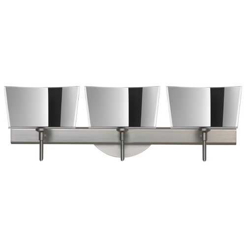 Besa Lighting Besa Lighting Groove Satin Nickel LED Bathroom Light 3SW-6773MR-LED-SN