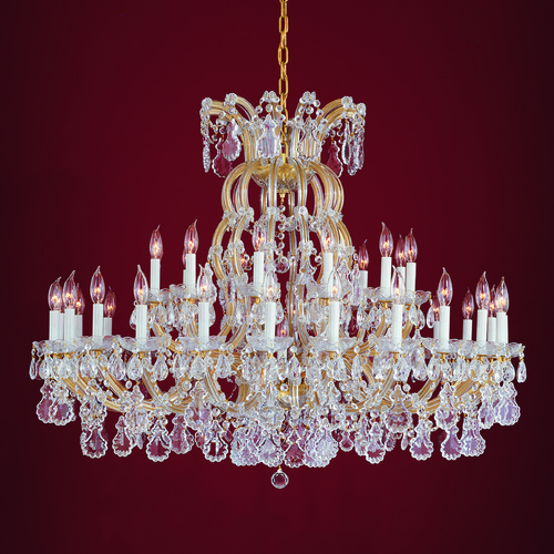 Crystorama Lighting Crystorama Lighting Hot Deal Gold Crystal Chandelier 4308-GD-CL-S