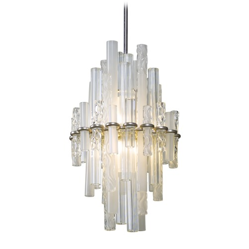 Corbett Lighting Corbett Lighting Manhattan Satin Silver Leaf LED Pendant Light 219-42
