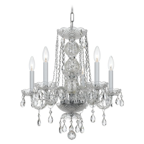 Crystorama Lighting Crystorama Lighting Finley Polished Chrome Crystal Chandelier 5295-CH-CL-MWP