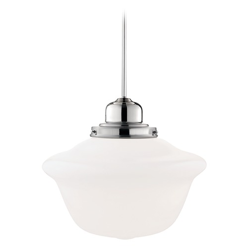 Hudson Valley Lighting Pendant Light with White Glass in Polished Nickel Finish 19-PN-1615