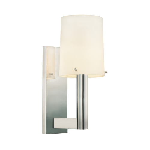Sonneman Lighting Modern Sconce Wall Light with White Glass in Polished Nickel Finish 1912.35