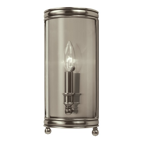 Hudson Valley Lighting Sconce Wall Light with Clear Glass in Historic Nickel Finish 7801-HN