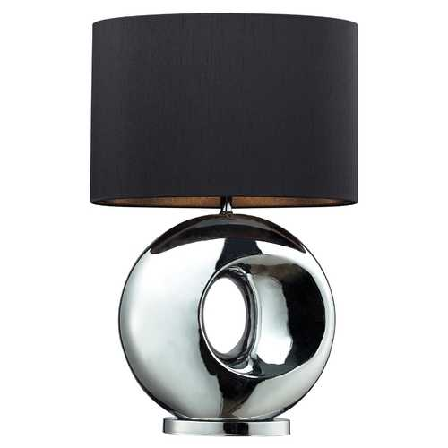 Elk Lighting Modern Table Lamp with Black Shade in Chrome Finish D2236