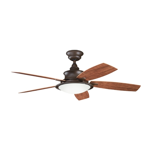 Kichler Lighting Kichler Ceiling Fan with Light Kit in Bronze Finish 310104TZP