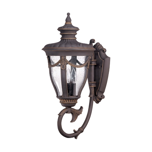 Nuvo Lighting Outdoor Wall Light with Clear Glass in Belgium Bronze Finish 60/2041