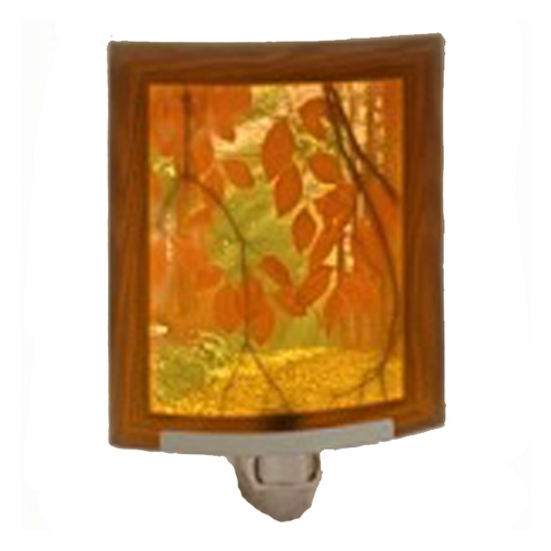 Porcelain Garden Lighting Fall Foliage Night Light with Art Glass Porcelain Shade NRC184