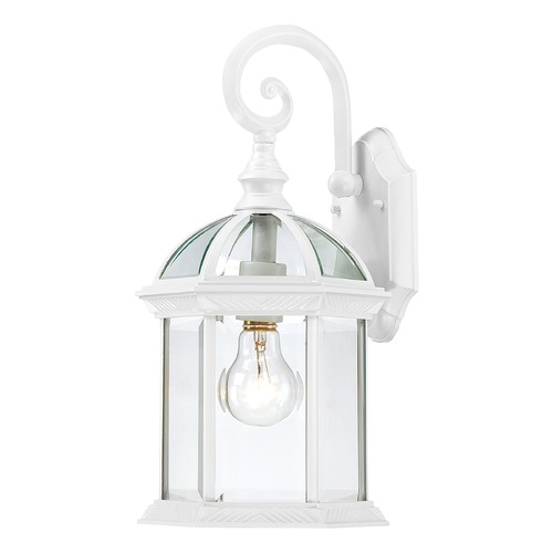 Nuvo Lighting Outdoor Wall Light with Clear Glass in White Finish 60/4961