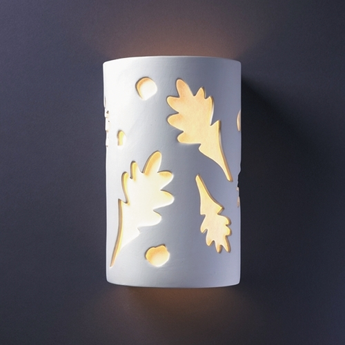 Justice Design Group Sconce Wall Light with White in Bisque Finish CER-7475-BIS