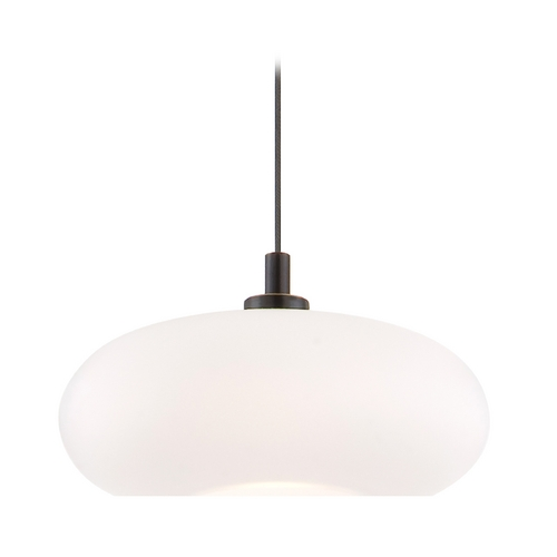 Holtkoetter Lighting Holtkoetter Modern Low Voltage Mini-Pendant Light with White Glass C8120 S006 G5701 HBOB
